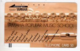 JAPON TELECARTE ANCIENNE NTT FRONTBAR BARCODE 110-10684 YAMAHA - Musique