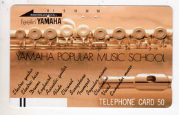 JAPON TELECARTE ANCIENNE NTT FRONTBAR BARCODE 110-10684 YAMAHA - Music