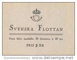 ZWEDEN 1944 Postzegelboekje Zweedse Marine PF-MNH-NEUF - 1904-50
