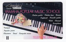 JAPON TELECARTE ANCIENNE NTT FRONTBAR BARCODE 110-19905 - Musik