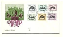 1968 - Vaticano S 25/30 Stemma Pontificio     FDC - Buste