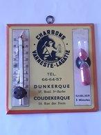 Plaque émaillée 13cm/13cm Avec Publicité Charbons Vanneste-Lagatte à Dunkerque - Coudekerque . - Plaques Publicitaires