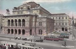 WIEN STAATSOPER Alte StrassenbahnenAutobusse Frucade Werbung Kutschen, Karte Um 1950? Gute Erhaltung - Vienna Center
