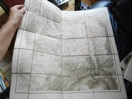 12.4) CARTA MAPPA BATTAGLIA VIONVILLE MARS LA TOUR REZONVILLE POSIZIONE ESERCITI VERSO LE 12 ANTICA CARTA SU TELA - Altri