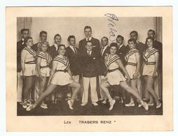 """PHOTO LES TRABERS RENZ - AUTOGRAPHE """" BRETA """" - TROUPE D'ACROBATES & DANSEUSES - ANNEES 1950 - Autographs"""