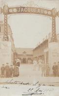 CPA PHOTO 75 PARIS XV 57 Rue Des Morillons Entrée Maison JACQUEAU Transport De Chevaux Blessés 1911 Rare - District 15