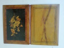 Couverture De Cahier Ancienne Bois Marqueté D'un Bouquet De Fleurs, Reliure De Luxe - Unclassified
