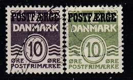 +D3338. Denmark Parcel Post 1939-55. POSTFÆRGE. Michel 23+35. Cancelled - Colis Postaux