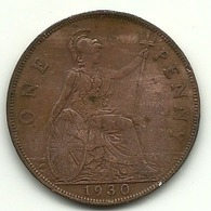 1930 - Gran Bretagna 1 Penny - 1902-1971 : Monete Post-Vittoriane