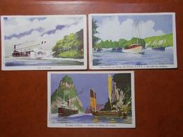 Carte Postale  - Lot De 3 Ligue Maritime Et Coloniale Cf Description (3447) - Barcos