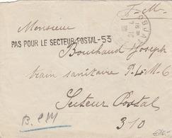 FRANKREICH 1939? - ROHRPOST Gelaufener Kleiner Brief Von .. ?osie Aux Armees > ?Objatia? - Frankreich