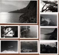 9 Photos Originales Militaires Au Cap Morgiou 1941 Les Martigues, Etang De Berre, Bateaux Militaires, Plongeon, Pêcheurs - Places