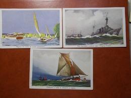 Carte Postale  - Lot De 3 Ligue Maritime Et Coloniale Cf Description (3448) - Barcos