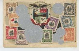 PANAMA - Jolie Carte Gaufrée Avec Timbres Et Pièces De Monnaie Du PANAMA (embossed Postcard) - Panama