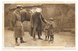 Cpa: GUERRE 1914 Two Uttle Friends (Officiers Canadiens Et Enfants) - War 1914-18