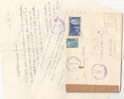 FRANKREICH 1950 - 8 + 25 F Auf Zensur-Brief (mit Inhalt) Gel.v. Batz > Wien - Frankreich