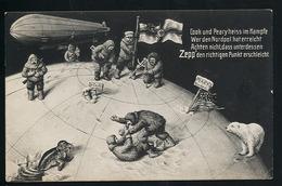AK/CP Zeppelin Am Nordpol  Polar Expedition Humor  Eisbär  Robbe  Ungel./uncirc. Ca. 1910  Erhaltung/Cond. 2-  Nr. 00870 - Luchtschepen