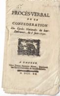 Proces Verbal De La Confédération Des Gardes Nationales Du Haut-Embrumois 1790  20 Pages - Décrets & Lois
