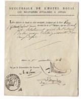 COMMISSAIRE DES GUERRES  1814  ARRAS  Signature à Identifier - Documents Historiques
