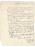 Baron François Gilbert De COSTON Sur Lettre Sd   Sans Doute 1828 ( Voir Autre Autographe Du Même Ds Ma Boutique) - Autographes