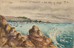 Themes Div-ref CC640 - Peinture - Peintre - Veritable Aquarelle - Dinard  Saint Enogat -st Enogat - - Dinard