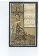 LEONIA BAEYENS DOCHTER B & R DE WINTER ECHTG DESIDERIUS DE RIDDER ° LEDE 1849 + HOFSTADE 1907 DRUK DE KEGEL - Imágenes Religiosas