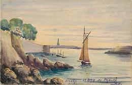 Themes Div-ref CC639 - Peinture - Peintre - Veritable Aquarelle - Dinard  - La Baie Du Prieuré - - Dinard