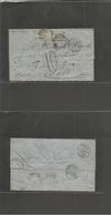 MEXICO. 1870 (8 March) Texcoco - France, Lour (10-11 April) EL Full Text Fkd. Mixed Perf + Imperf. 1868 Hidalgo 25c Blue - Mexico