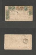 BELGIUM. 1883 (2 Febr) Anvers - USA, Pha, PA (18 Feb) Multifkd Maritime Transatlantic Usage. Very Rare 50c Rate Formed W - Belgium
