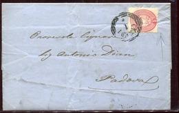 46992 Lombardo Veneto,  Soldi 5 Da Ceneda A Padova  1863 - Lombardo-Veneto