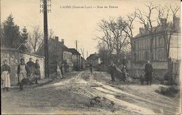 Cpa Laons, Rue De Dreux, Animée - France