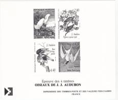 France épreuve Offerte Par La Poste 2929 2932 Audubon 1995 - Luxusentwürfe