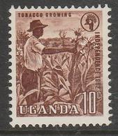 Uganda 1962 Independence 10 C Brown SW 81 O Used - Uganda (1962-...)