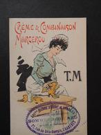 CHROMO Chaix. Maison Sommet-Drouard à Chartres. Encaustique  MARCEROU. Calendrier 1902. Art Nouveau. Jolie Soubrette. - Vieux Papiers