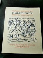 Première Émission De Timbres-poste Après La Libération 1944 - 1940-1944 Ocupación Alemana