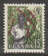 Uganda 1962 Independence 15 C Multicoloured SW 83 O Used - Uganda (1962-...)
