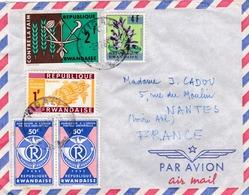 RWANDA :    Divers Sur Lettre De Kigali - 1962-69: Oblitérés