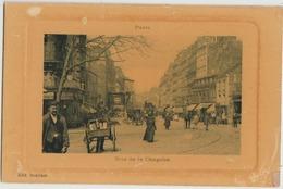 CPA 75 PARIS XVIII Rue De La Chapelle Carte Embossée - Arrondissement: 18