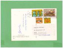 1978 AUSTRALIA SYDNEY OPERA HOUSE AIR MAIL POSTCARD WITH 4 STAMPS TO ITALY - 1966-79 Elizabeth II