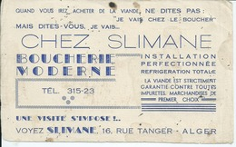 BUVARD -CHEZ SLIMANE - ALGER - - Alimentare