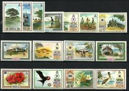 Anguilla 1972, Dauerserie  Landschaften, Vögel, Blumen, Def's Var. Sceneries - Anguilla (1968-...)