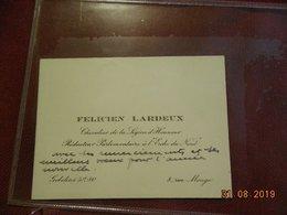 Carte De Visite - Paris 13e  - Félicien Lardeux - Rédacteur Parlementaire à L'Echo Du Nord - 8, Rue Monge - Cartes De Visite