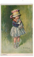 A. Killithans  Meisje Met Hondje  I.K.N.   M K 952 - Otros Ilustradores