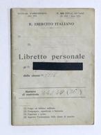 Militaria Esercito - Libretto Personale 2° Reg. Genio 1^ Comp. Radio 1935 Casale - Altri