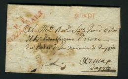 LETTRE  DE  NICE  DU  27  JUIN  1845 ?  POUR  ARMA DI TAGGIA - Marcophilie (Lettres)