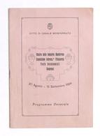 Mostra Delle Industrie Monferrine - Programma Generale - Casale - 1924 - Libros, Revistas, Cómics