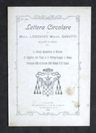 Lettera Circolare Di Mons. Lodovico Gavotti - Vescovo Di Casale - 1^ Ed. 1908 - Libros, Revistas, Cómics
