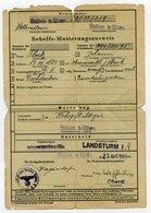 Ostmark / Baden Bei Wien; Behelfs-Musterungsausweis; 23. 4. 1944 - Documents