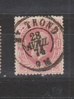 COB 34 Oblitération Centrale Double Cercle ST-TROND Superbe - 1869-1883 Leopold II