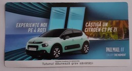 ROMANIA-CIGARETTES  CARD,NOT GOOD SHAPE,0.83 X 0.44 CM - Unclassified